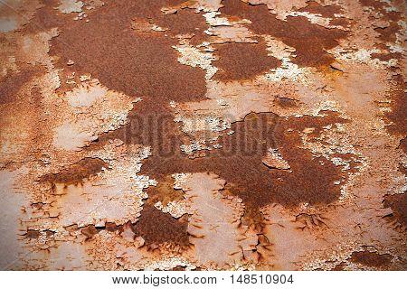 Old rusty Zinc wall grunge style background