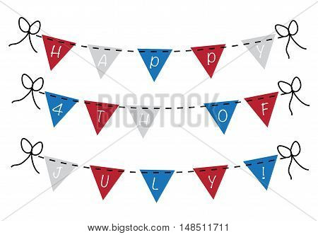 Happy 4th of July Red White Blue Banner