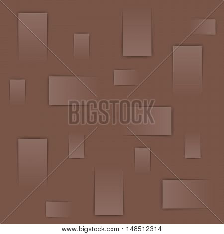Abstract background image with rectangles on the brown background the material design