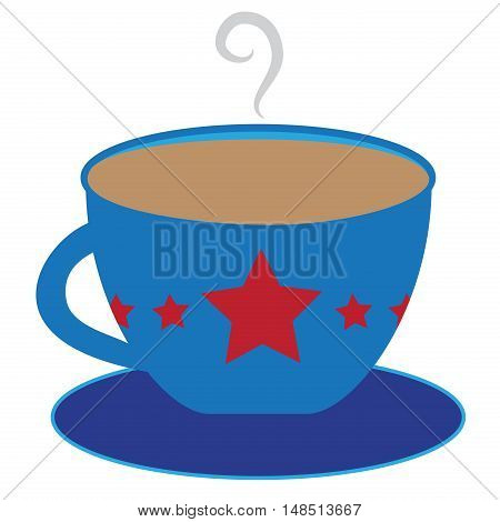 American Red White and Blue Star Coffee