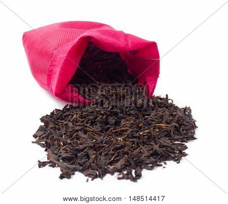 Tea with a thyme isolated one a