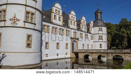 Bridge Leading To The Neuhaus Castle In Paderborn
