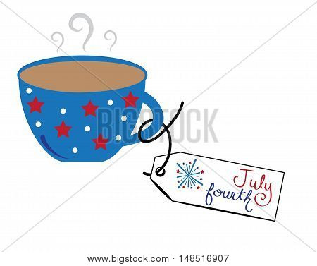 Red White Blue 4th of July Coffee