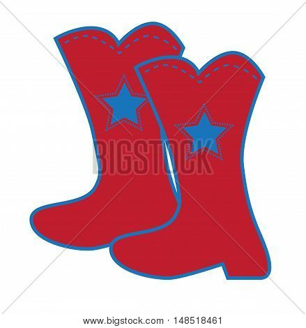4th of July Red White Blue Boots
