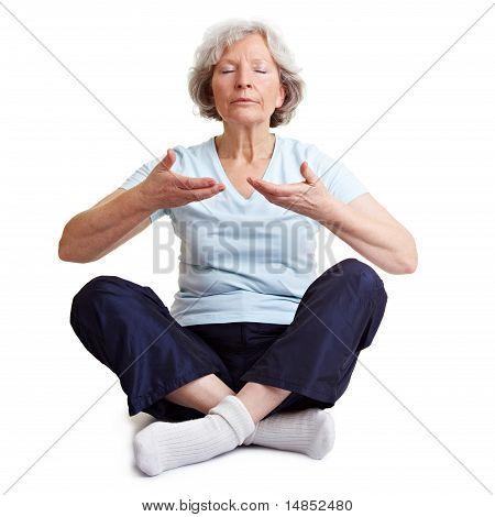 Old Woman Meditating