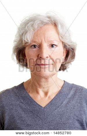 Headshot Of An Old Smiling Woman