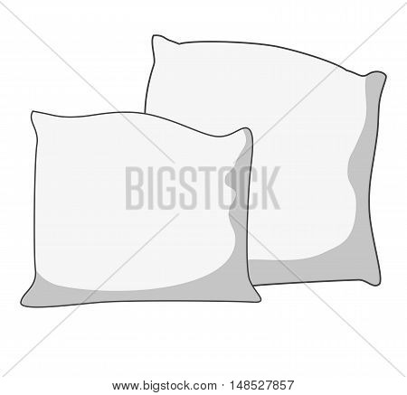 Vector illustration of pillow, pillow isolated, white pillow, bed pillow.