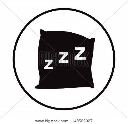 Pillow icon vector, black pillow on white background ,eps 10