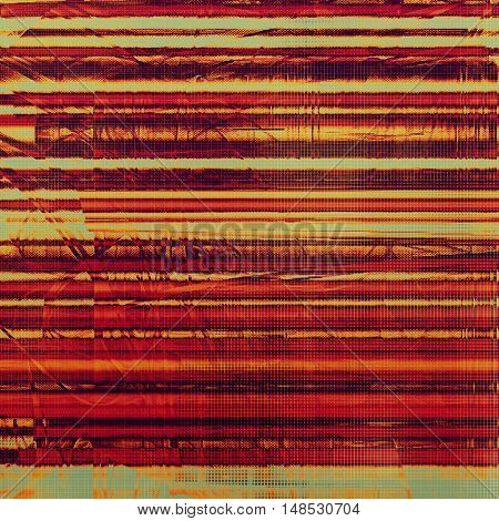Vintage decorative texture with grunge design elements and different color patterns: yellow (beige); brown; gray; red (orange); pink
