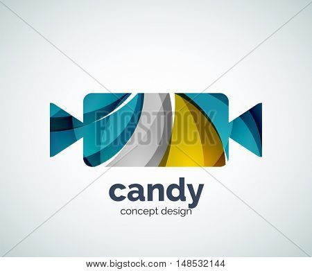 candy logo template, abstract business icon