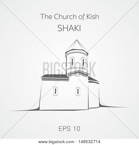 The old Albanian church placed in Shaki. Azerbaijan.