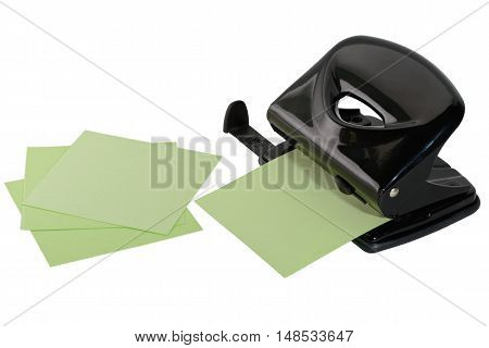 black hole punch for paper and several sheets