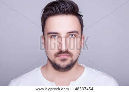 Portrait Of A Man Looking In The Camera