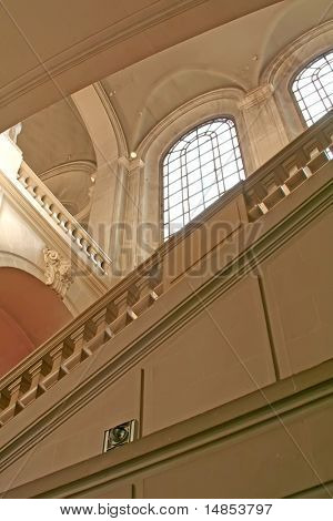 Architectural details stairs and windows classical european design luxurious