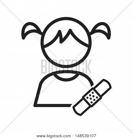 Kids, medical, bandaid icon vector image. Can also be used for kids. Suitable for web apps, mobile apps and print media.