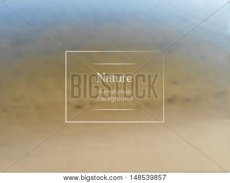 Blurred Sea Background.