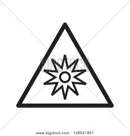 Lines, radiating, optical icon vector image. Can also be used for warning caution. Suitable for mobile apps, web apps and print media.