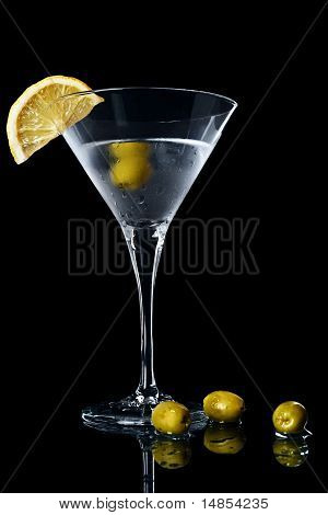 Vermouth Cocktail In Martini Glass