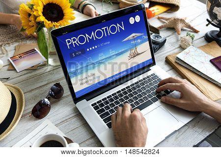 Travel Promotion Laptop Screen Concept