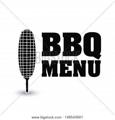 cob bbq and grill menu icon. Steak house food and restaurant theme. Isolated design. Vector illustration