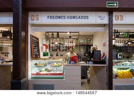 Sant Juan Market Interior Hungarian Food