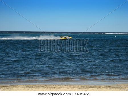 Speeding Jetski