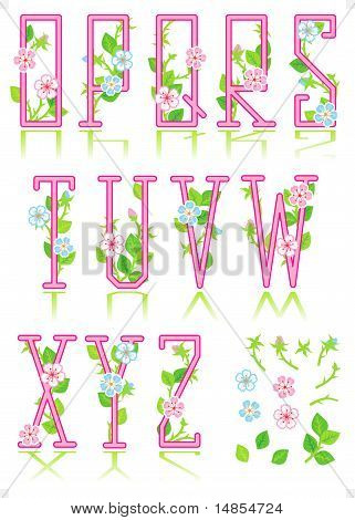 Spring or romantic alphabet set, part 2