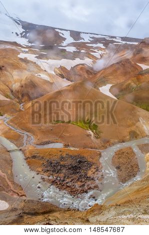 Kerlingarfjoll geothermal area in the highlands of Iceland