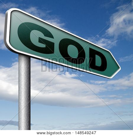 God and salvation search road to heaven religion god belief and praise the lord 3D, illustration