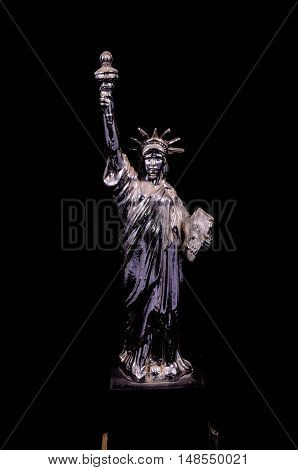 Silver Gray Handmade Liberty Statue
