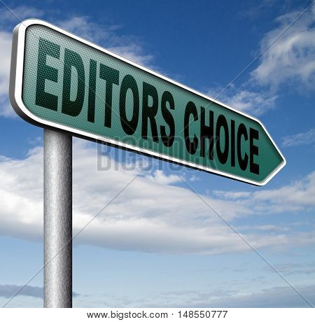 editors choice or pick best of the best special selection hand picked 3D, illustration