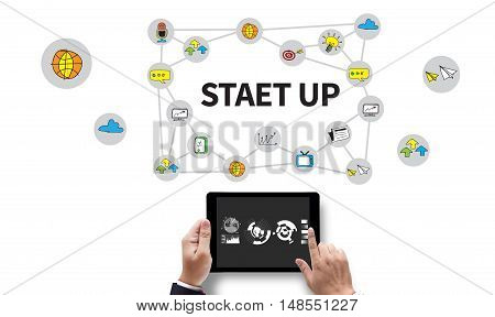Startup  Business Startup Launch Strategy Vision Idea