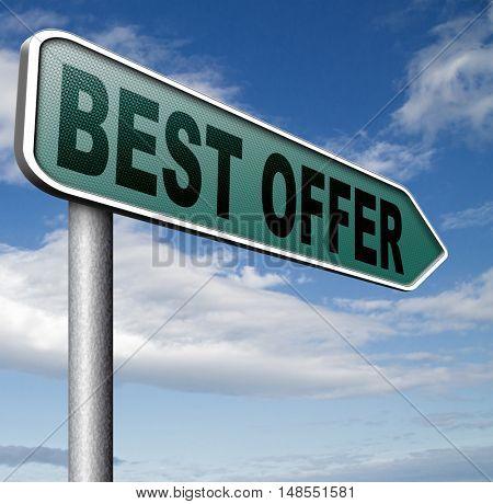 best offer lowest price for value web shop or online promotion,  sign for internet webshop 3D, illustration