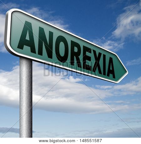anorexia nervosa eating disorder with under weight as symptoms needs prevention and treatment is caused by extreme dieting, diet and bulimia  3D, illustration
