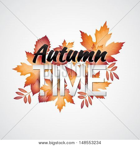 Autumn vector banner with colorful leaves. Suitable for your covers, poster, banner, offer, coupon, business promote.