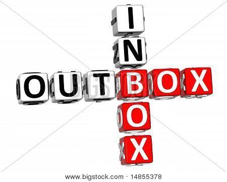Postausgang Inbox-Kreuzworträtsel