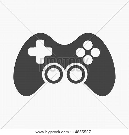 Controller black icon. Illustration for web and mobile.