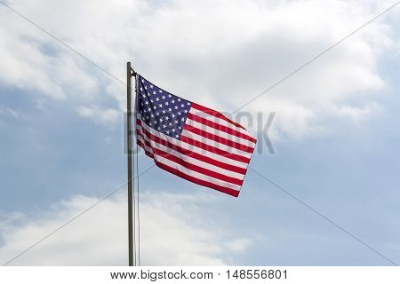 Flag Of United States On A Flagpole