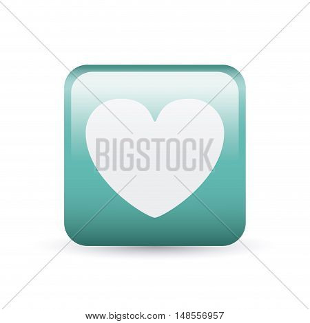 Heart inside frame icon. Medical and health care theme. Colorful and isolated design. Vector illustration