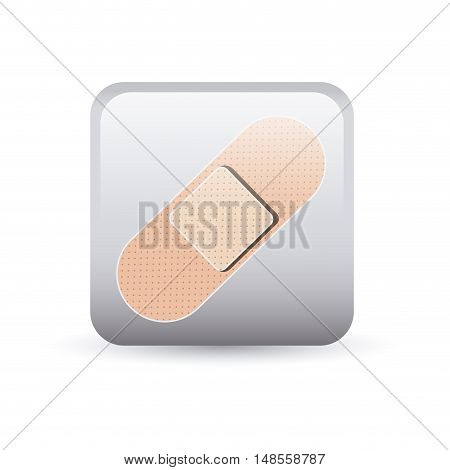 Bandage inside frame icon. Medical and health care theme. Colorful and isolated design. Vector illustration