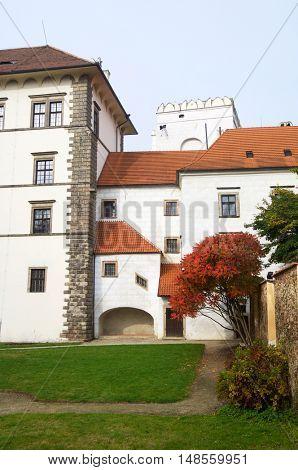 Jindrichuv Hradec castle, the thirteenth century, southern Bohemia, Czech Republic.