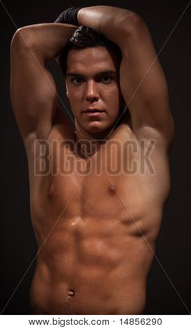 Muscular Man With Strong Arms