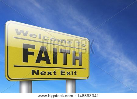 faith trust and belief in god jesus christ and friends 3D, illustration