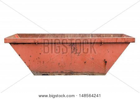 industrial garbage container isolated on white background