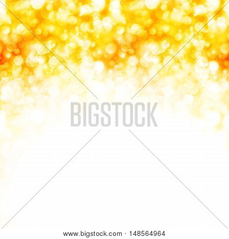 Shiny gold background with sparkling lights, vector illustration