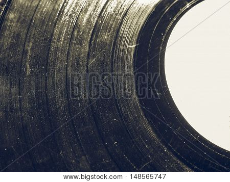 Vintage Looking Scratched Record