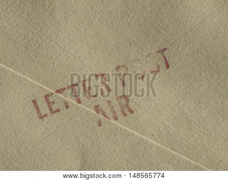 Vintage Looking Letter Post Air