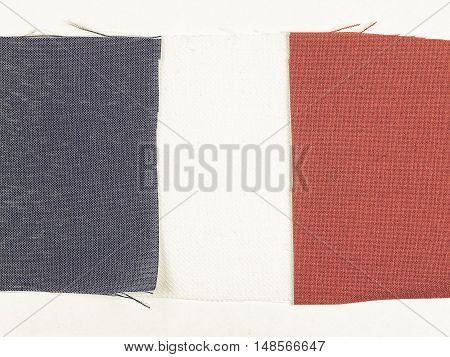Vintage Looking Flag Of France