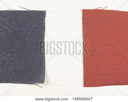 Vintage Looking Flag Of France