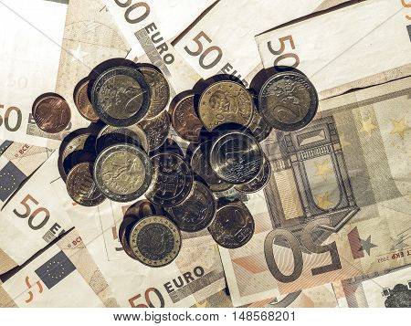 Vintage Euro Coins And Notes
